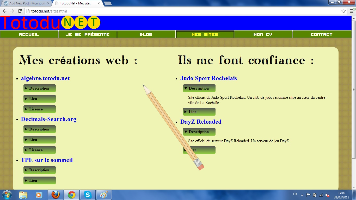 projet html5  css3